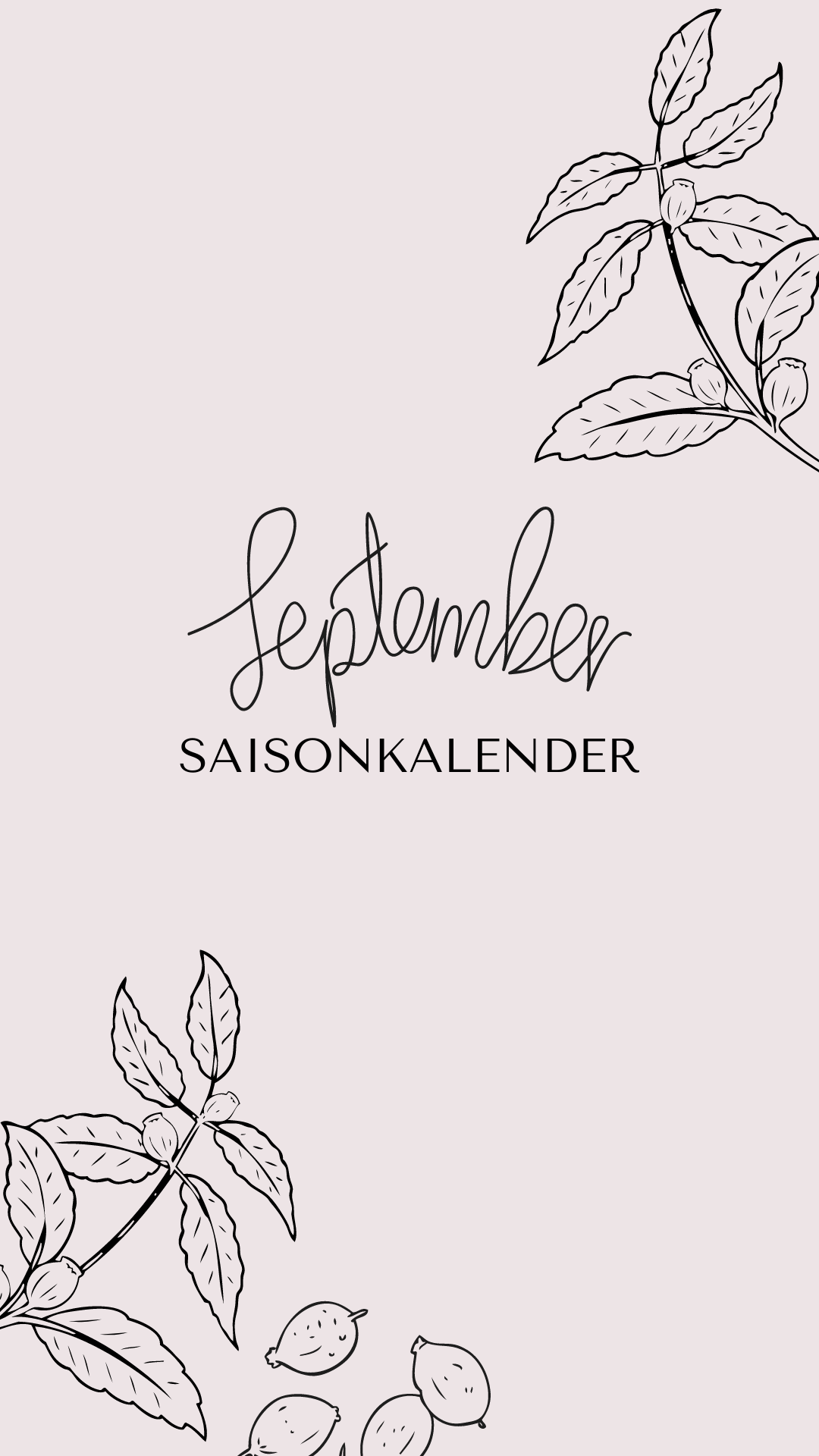 Saisonkalender September bäckerina.de
