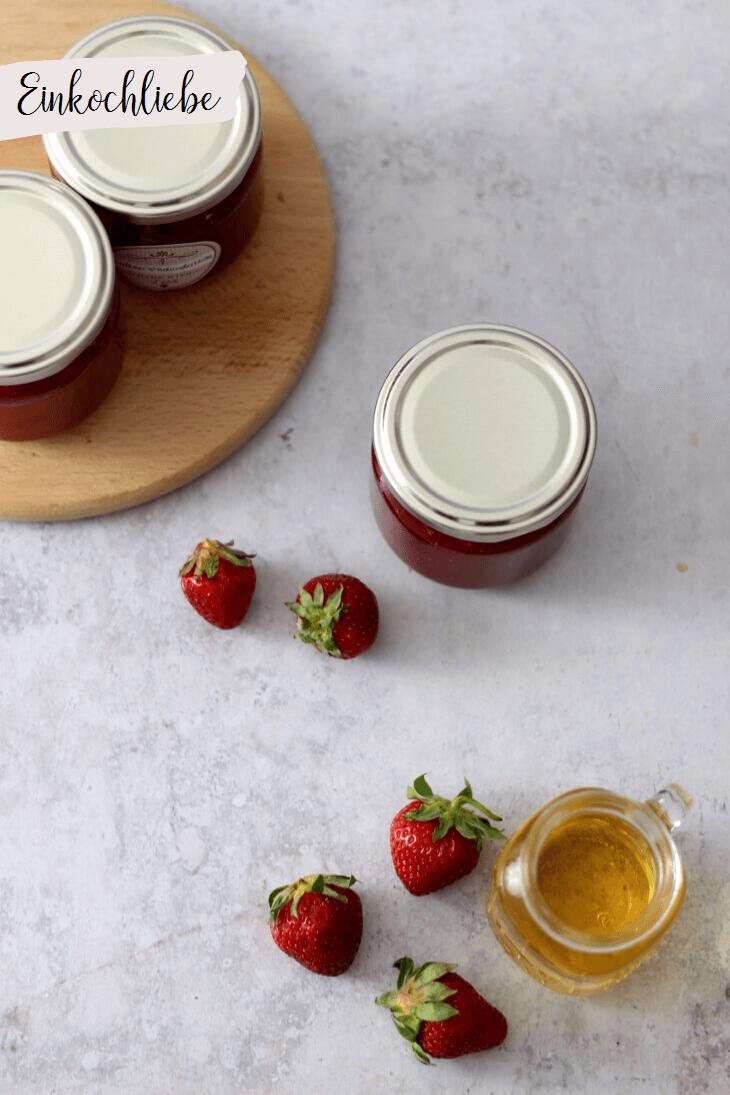 Erdbeer Holunder Marmelade | bäckerina.de