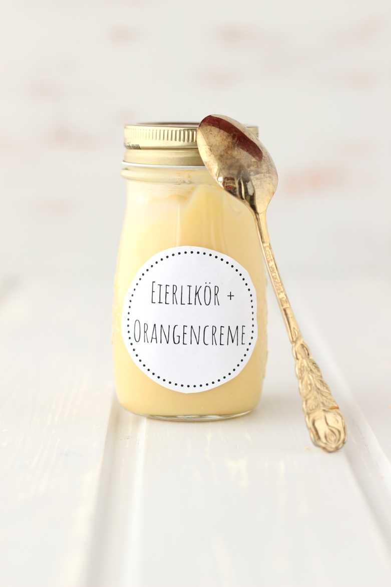 Eierlikörcreme mit weißer Schokolade und Orange