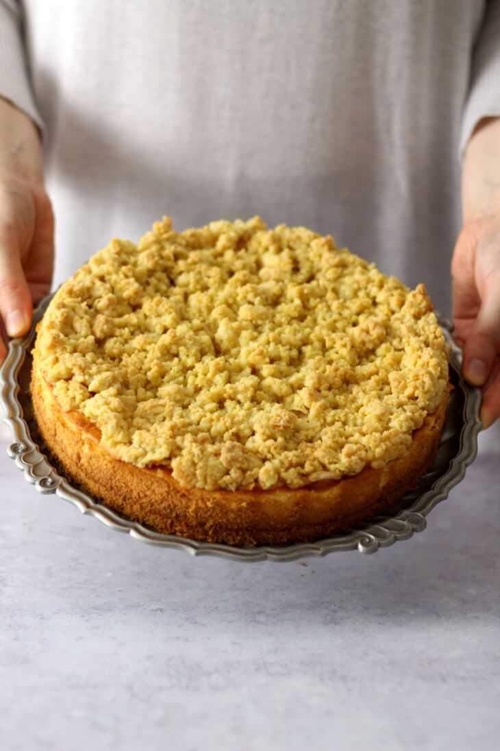 Apfel Käsekuchen mit Streuseln | bäckerina.de