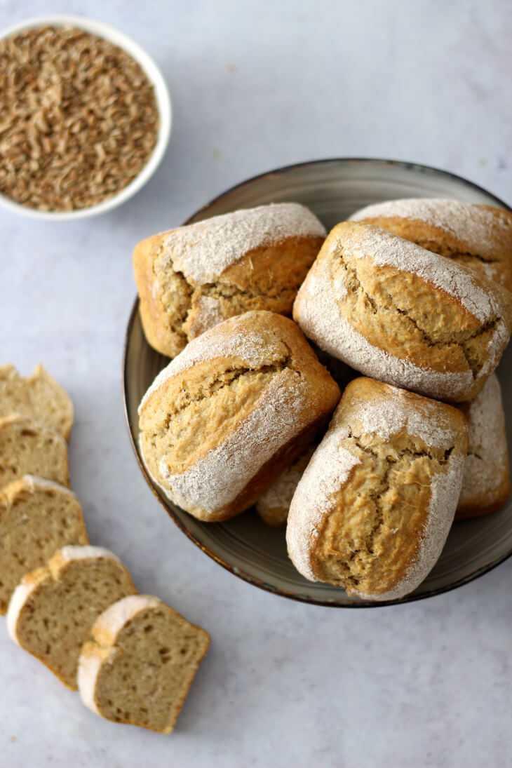 Brötchen mit Backpulver und Dinkel | bäckerina.de