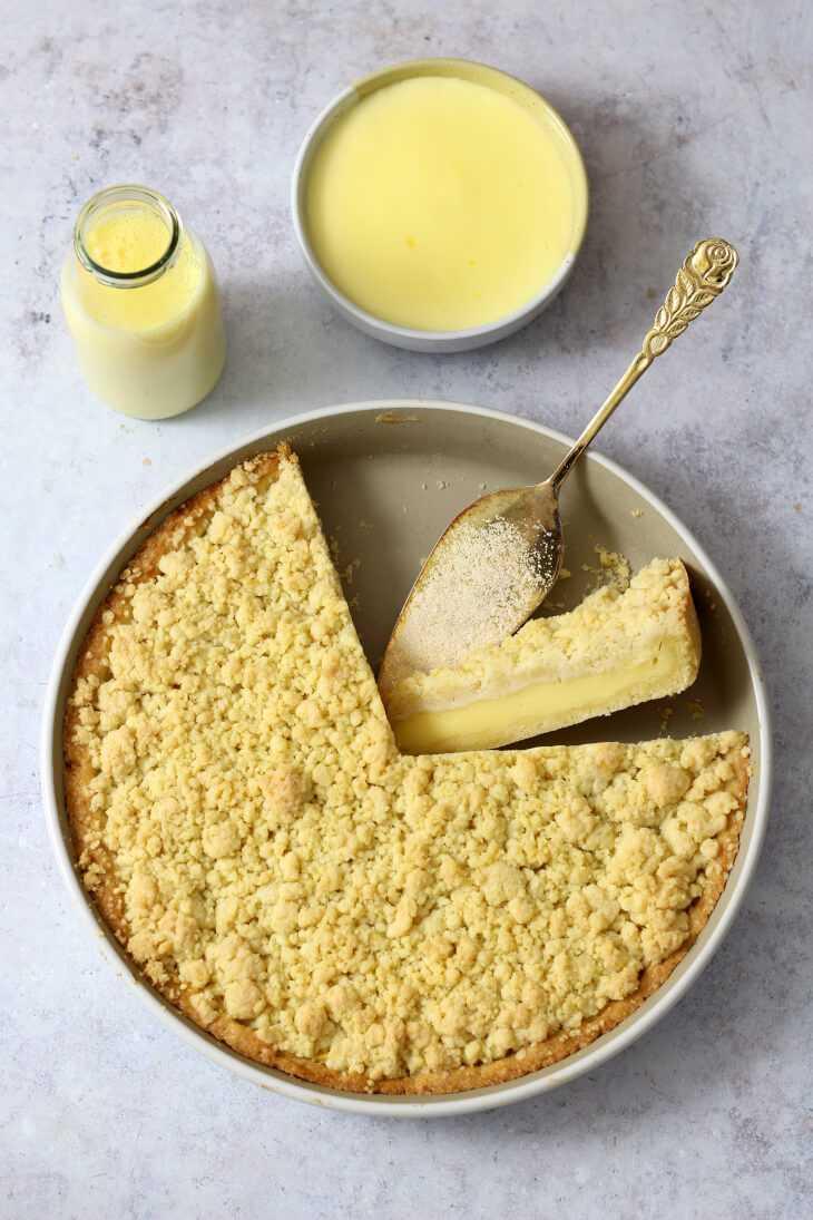 Puddingkuchen mit Streuseln Rezept | bäckerina.de