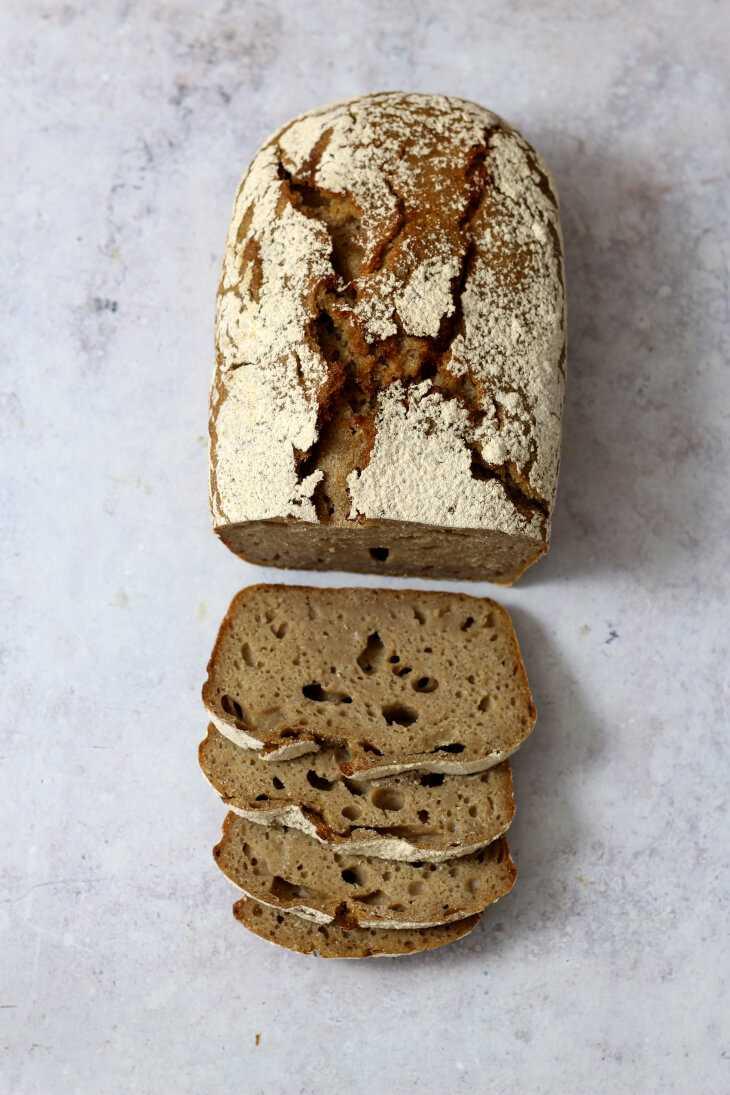 Dinkel Roggenbrot ohne Hefe | bäckerina.de