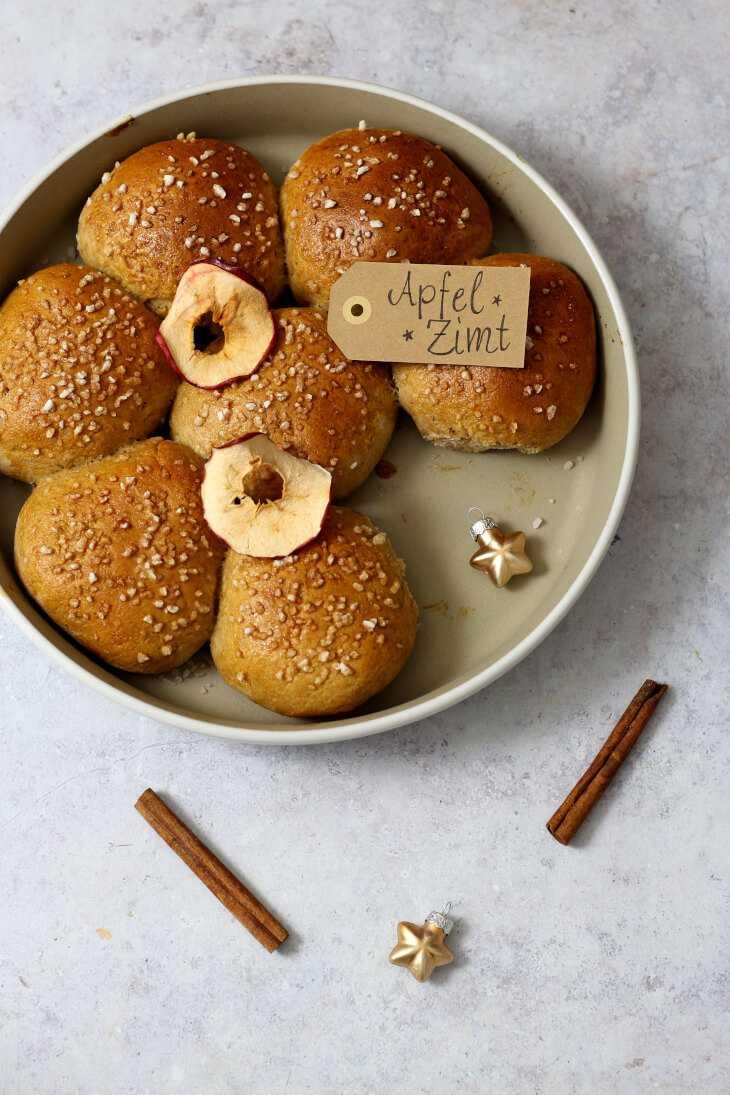 Buchteln Rezept mit Apfel und Zimt | bäckerina.de