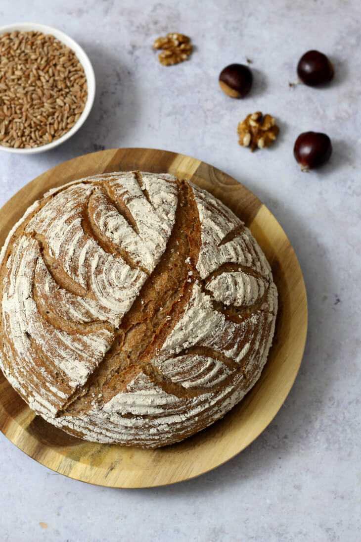 Maronenbrot Rezept mit Walnuss | bäckerina.de