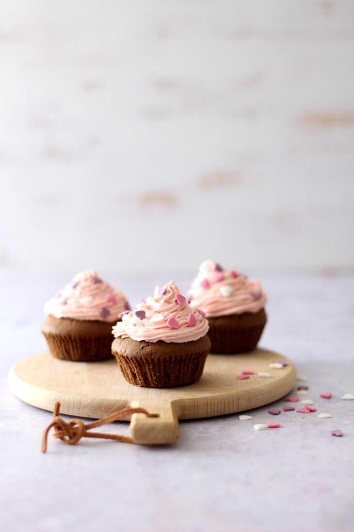 Schoko Erdbeer Cupcakes | bäckerina.de