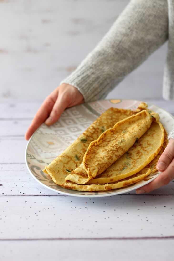 Bärlauch Pfannkuchen mit Frischkäse | bäckerina.de