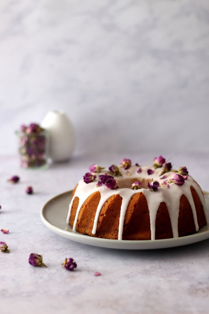 Rosenkuchen Kuchen mit Rosenwasser | bäckerina.de